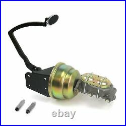 32 Ford 8 Dual Brake Pedal kit Disc/DiscSm Oval Chr Pad parts suspension front