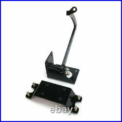 47-54 Chevy Truck 7 Single Brake Pedal kit Disc/DiscSm Oval Blk Pad parts