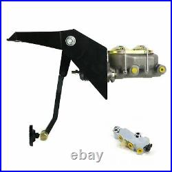 55-59 Chevy Truck FW Manual Brake Pedal kit Disc/Drum3in Blk Pad front parts