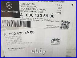 Brake Pad And Disc Set Rear C Class 205 AMG Line Genuine Mercedes Parts, New