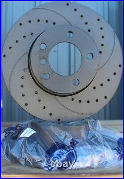 Fits Audi A4 A5 A6 A7 Q5 10- Drilled & Grooved Brake Discs Front 320mm Upgrade