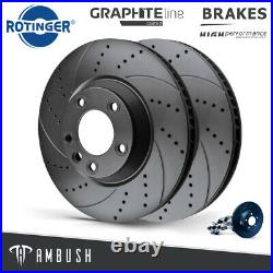 Fits Audi A6 2004-2011 4F Drilled & Grooved Brake Discs Fr Vented 347mm Upgrade