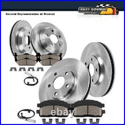 For 2007 BMW 328i E90 2WD Front And Rear Brake Disc Rotors & Ceramic Pads