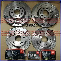 For Audi S5 V8 Grooved Front Rear Apec Brake Discs & Apec Pads Oe Parts