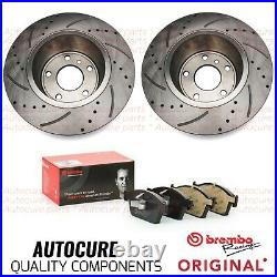 For Ford Focus St-2 Mk3 Drilled Front Discs 320mm & Brembo Pads Premium