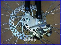 NEW Monark Fork withDisc Brake Adapter Black withChrome Parts with 1 1/8 Reducer